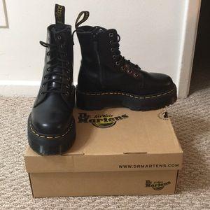 """Dr. Martens """"Jadon"""" platform boots. NWB"""